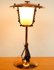 Alte Tisch Lampe Laternen Lese Leuchte Kupfer Design 40er 50er Jahre Vintage