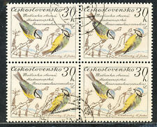 TSCHECHOSLOWAKEI 1959 Vögel 30 H Blaumeise (Parus caeruleus) Kab.-Viererblock O