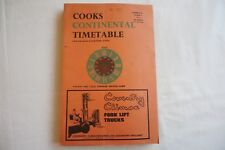 1967 Cooks Continental Timetable Railway Local Steamship Services Guide Cook