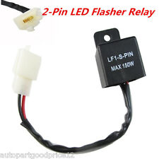 2 Pin Motorcycles LED Light Flasher Relay Turn Signal Rate Control Hyper Flash