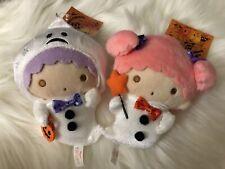 Little Twin Stars Kiki And Lala Halloween 2019 Ghost Mascot Plush Pair
