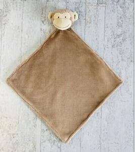Carter's Monkey Baby Lovey Light Brown Tan Soft Plush Security Blanket 2016 HTF