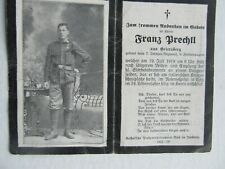 Rare Wwi German Death Card, Stein & Award Medal Pictured, Colored Reverse, Gift