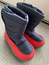 Navy Red Boys Snow Boots Inf9