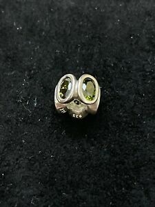 Pandora Authentic Moments Dk Green CZ Oval Lights Charm Silver 925 NEW RETIRED