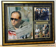 "Large SOPRANOS AUTOGRAPHED James Gandolfini Cast SIGNED  31"" x 25"" Picture"
