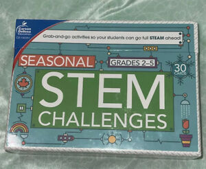 Seasonal STEM Challenges Learning Cards, Grades 2-5 Carson Dellosa Education NEW