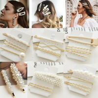 Fashion Pearl Hair Clip Hairband Comb Bobby Pin Barrette Hairpin Headdress Set