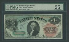 "FR18 $1 1869 LEGAL TENDER ""RAINBOW"" NOTE PMG 55 CHOICE AU WLM9624"