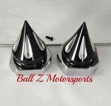 99-03-06-07 Hayabusa Black/Silver Grooved Spike Spiked Rear Axle Caps/Covers!!