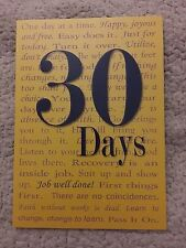 Alcoholics Anonymous Recovery Cards! 30 Day Celebration Card Job Well Done!