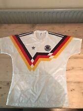 "Alemania Occidental Adidas Hogar Camiseta De Fútbol Talla 38-40"" M 1988-1990"