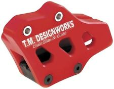 T.M. Designworks Red Factory Edition 1 Chain Guide for Husqvarna CR125 1998-2010