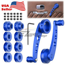 2Pcs Blue Car Window Winder Glass Crank Handle Aluminium Knobs Metal Universal