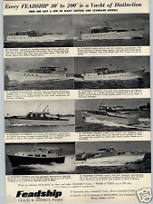 1955 PAPER AD 8 Images Feadship Boats 90' 82' 65' 60' 45' 40' 35' 30' Lauderdale