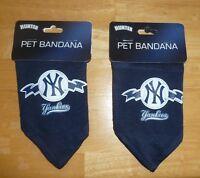 2 MLB New York Yankees NY PET BANDANNA DOG MESH JERSEY SMALL LICENSED