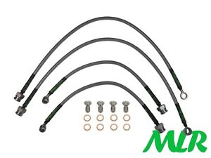 ROVER MG MGF 1.6 1.8 VVC STAINLESS STEEL BRAIDED BRAKE LINES HOSES PIPES KIT UR