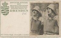 Künstlerkarte Dresden Königliche Sammlung Norwegisches Lotsenboot C. Krogh
