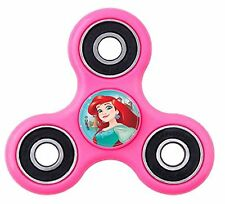 "Girls Pink Little Mermaid ""Ariel"" Fidget Spinner with Assorted Princess Decals!"