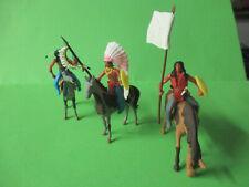 Umbauten Elastolin Steckfiguren Indianer Friedensgespräche