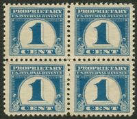 #RB65 1c Proprietary-Block of 4, Mint OG NH **ANY 4=FREE SHIPPING**