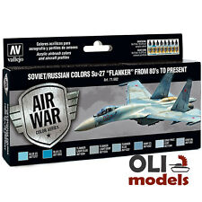 AIR WAR SOVIET/RUSSIAN COLORS Su-27 FLANKER 80's to Present Set - Vallejo 71602