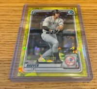 2020 Bowman Chrome Draft Trevor Hauver Yellow Sapphire Parallel Insert #27/99