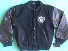 New Oakland Raiders LETTERMAN jacket varsity nwt leather wool vtg starter hat S