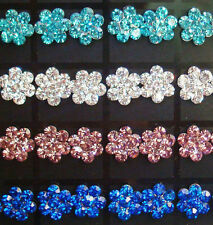 New Lots Fashion 180Pairs Flower Colors Rhinestone Stud Earrings