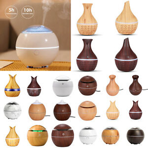 USB Aroma Essential Oil LED Diffuser Ultrasonic Cool Mist Humidifier Purifier