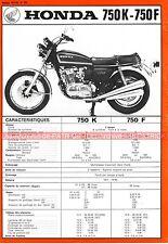 HONDA CB 750 K et CB 750 F CB750 Four Fiche Technique Moto 000293