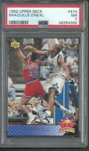 1992-93 Upper Deck Shaquille O'Neal Rookie RC Top Prospect PSA 7 Magic #474