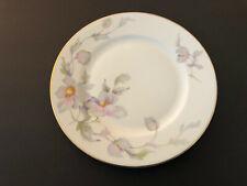 "Thun Thuny TK China Czech 16665 Pink Lavender Gray Floral - 7-7/8"" SALAD PLATE"