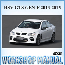 HSV (HOLDEN SPECIAL VEHICLE) GTS GEN-F 2013-2015 WORKSHOP SERVICE MANUAL ~ DVD