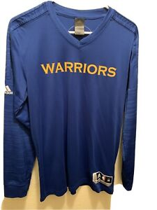 Mens Medium Adidas Climalite  Golden State Warriors Long Sleeve Polyester Shirt
