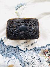 Rare Antique Chinese tortoiseshell snuff box
