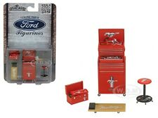 FORD MUSTANG 4 PIECES GARAGE TOOLS SET FOR 1/18 BY MOTORHEAD MINIATURES 585