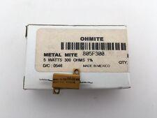 (3 pcs) 805F300 Ohmite, 5 Watt 300 Ohm 1%, Wirewound Resistor (Chassis Mount)