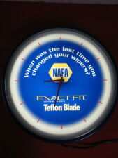Gas Station Lighted Clock Advertising Sign Napa Exact Fit Wiper Blades
