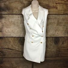 Blessed Are The Meek Womens Size 2 Expdition Sleeveless Blazer New Career Work