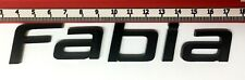 "SKODA ""FABIA"" GLOSS BLACK REAR BADGE LOGO LETTERS BESPOKE 3mm ACRYLIC 3M BACKING"