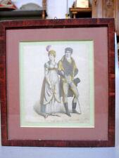 Colorierte moda alemana página para Tracht 1800 hoja de moda para 1800 [schw]