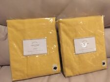 "2 Pottery Barn Emery Grommet Cotton Lining drapes Curtains panels 96"" marigold"