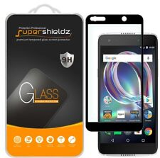2X Supershieldz Alcatel Idol 5 Full Cover Tempered Glass Screen Protector Black