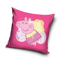 Licensed Peppa Pig Fairy Time With Peppa Cushion Cover 40x40cm 100 Cotton