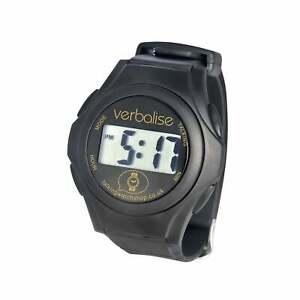 Verbalise Unisex Digital Talking Watch with Black Strap