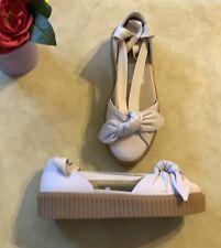 717c0f583 Puma Fenty By Rihanna Women Bow Creeper Sandal Leather Sneakers