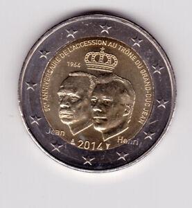 2 euro 2014 LUXEMBOURG 50 ans trône Grand-Duc Jean   UNC