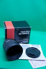 Sigma 15mm f2.8  EX DG Fisheye for Canon