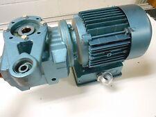 SEW EURODRIVE DFT71C4 MOTOR W/ GEARBOX 230/460 VOLT 1.32/.66 AMP .33 HP 1720 RPM